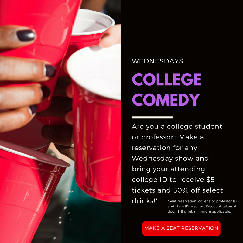 College Comedy Night Specials Wednesday's at Stand Up NY